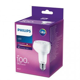 Philips LED 7W / 100W E27 WW R80 40D ND směrová