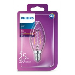 Philips LED Classic 2W / 25W E14 WW ST35 ND mini svíčka