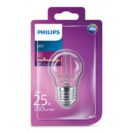 Philips LED Classic 2W / 25W E27 WW P45 CL ND kapka mini