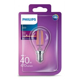 Philips LED Classic 4W / 40W E14 WW P45 CL ND mini kapka