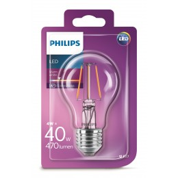 Philips LED Classic 4W / 40W E27 WW A60 CL ND