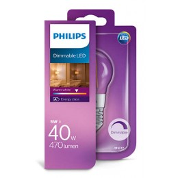 Philips LED Classic 5W / 40W E27 WW P45 CL DIM mini kapka
